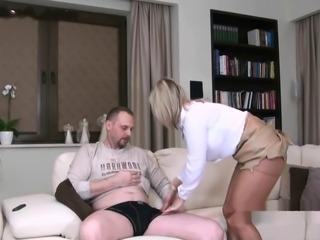 Sexy Wife pantyhose footjob