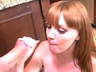 See all things Jessy Jones and Marie McCray are doing here. Redhead gal with nice natural breasts is going to stay bare, stand on knees and suck dick until facial.
