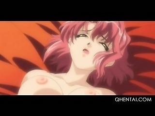 Teen hentai doll gets cunt wet while fucked in the ass