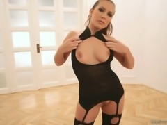 Hungarian sexy mom Orchidea agreed to pose all naked for the Erotic Makeover,...