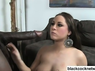 Busty brunette fucked by Mandingo