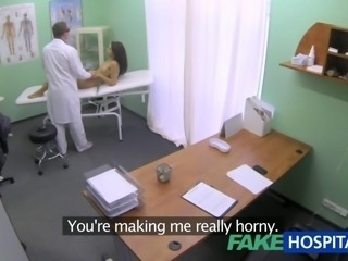 FakeHospital Slim skinny young student cums in for check up gets the doctors...