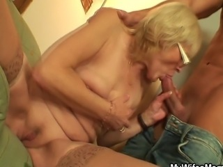 I just fucked my wife's old mom