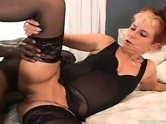 Grandma Loves Black Cock
