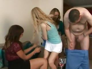 CFNM babes in group humiliating