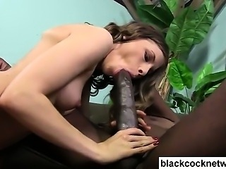 Black monster cock blowjob