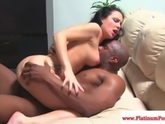 Katie St.Ives gets a mouthful of cum after fucking black cock
