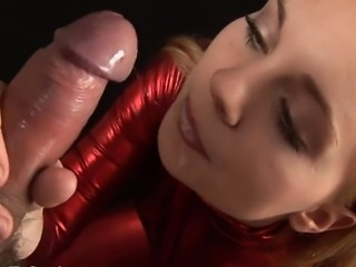 Jessica gives her very best blowjob performance , she gets the co stars cock nice and wet by taking it deep down her tight throat. This chick is very attentive and is always looking into her mans eyes as she struggles to fit the full length of his cock inside her mouth.