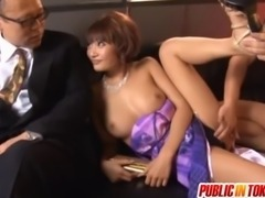 Everyone Watches As Kirara Asuka Gets Fucked For Dinner