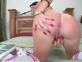 Sexy Raquel Diamond instructs you how to stroke your cock