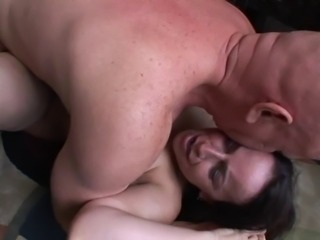 Floppy Tits Hairy Cunt Mature Nina Plowed