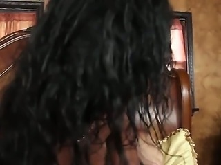 Tall pale Bill Bailey with long shaft fucks hard big ass black bitch Layton Beneton with natural tits to wet screaming orgasms all over bedroom while her husband is at work.