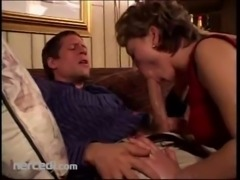 Mature Broad Sucks Her Man Blowjob free