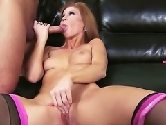 Wild turned on brunette whore Brooklyn Lee with hot body and cheep heavy make...