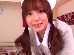This beautiful Japanese nurse knows whats what in treating men and she got...