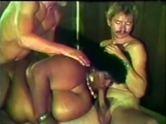 (VINTAGE) BLACK SSBBW MILF WITH HUGE TITS FUCKING 2 WHITE MEN! free