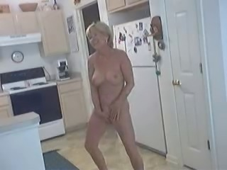 granny's horny in the kitchen