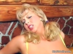 Filthy MIlF blonde with huge breasts free