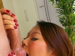Seductive experienced asian milf Tiger Benson with perfectly shaped round ass...