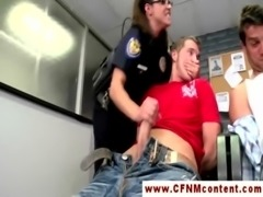Horny CNFM police babes suck detainees free