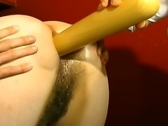 Fat Mature slut gets the roughest treatment with lots of pissing, fisting and...