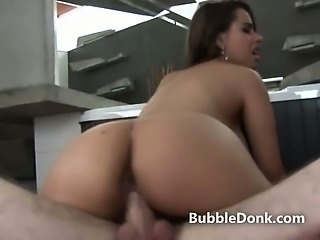 Large ass latina pumped while on top