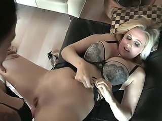 Dreamy Dana and Julia share a kinky and steamy lesbian moment together while licking, fingering and drilling each other with strap-ons.