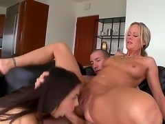 Filthy blonde milf Simone Sonay with natural tits and great hunger for pussy...