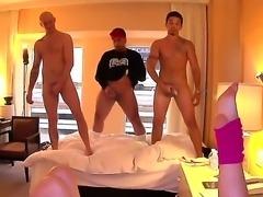 Slender brunette sluts Danica Dillon, Giola Biel and Kristina Rose with tight...