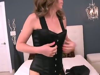 Blonde with phat ass and shaved beaver has a good time playing with cum loaded dick