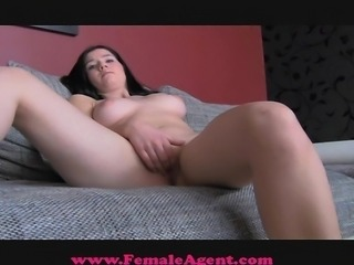 FemaleAgent Shy beauty takes the bait
