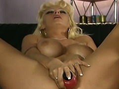 Two awesome blondes like to play some hot lesbian games. Watch them eat on...