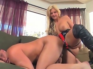 A strap on love story. Staring Porn star Christian XXX and Phoenix Marie. hardcore action as this blonde babe puts on a strap on, and gets her man to bend over as she slips it inside his tight ass.