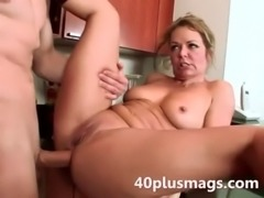 Horny wife hard fucked in her kitchen free