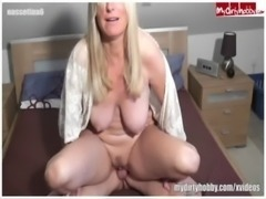Sexy German MILF gives a great blowjob free