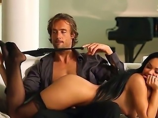 Dark haired and arousing brunette sexy Selena Rose enjoys in her amazing sex session on the living room couch and gets her slit licked big time and rammed hard