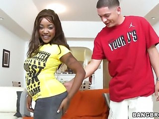 Diamond Mason with juicy bottom fucking interracially like a pro