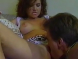 We have this curly haired amateur babe getting her knickers picked by his man. Watch as his man pussy licks her and our babe returned the favor by sucking his cock