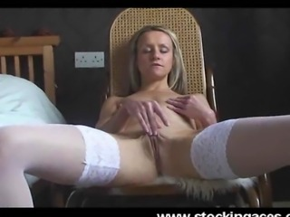 Emma strips tease and gets naked and shows us her perfect shaven pussy