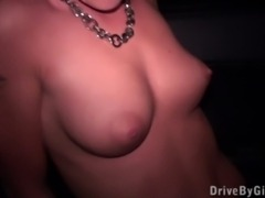 A pretty girl interviewed for a public gangbang sex for anonymous orgy...