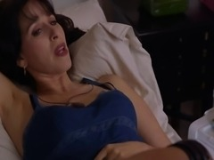 First Alissa Dean topless entering a room in just a pair of black panties and...