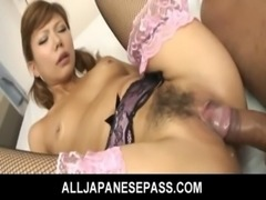 Red hot Aya in pink and black lingerie free