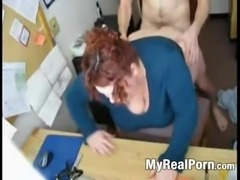 Fucking my horny fat bbw secretary on hidden cam