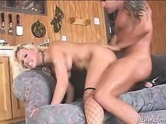 Sexy blonde skank with big tits