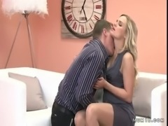 Shaped blonde mom licked and fucked free