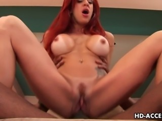Divine mature redhead Shannon Kelly bends over while her black lover fingers...