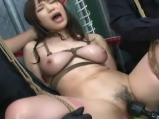 Classic Japanese S&M scene, Kaho and Ayumi are suspended in rope bondage and tormented with intense bdsm humiliation and sexual punishment.