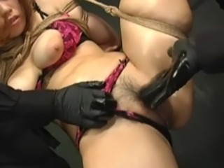 Japanese Sex Slave Suspended In Rope And Fucked By FemDom and Fetish Master