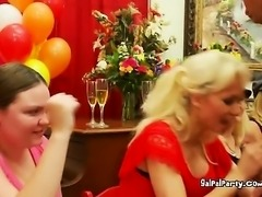 Lovely Ladies Party Gets Nasty With Dancing Cocks