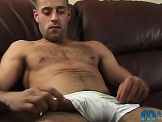 Ken is a 24 year-old from Montreal who works out religiously, hitting the gym every day he can - and it shows. He's also the proud owner of an uncut eight-inch cock, which he puts to very good use in this hot solo stroke vid!